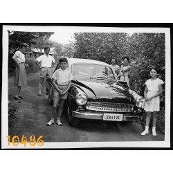 Wartburg autó, személygépkocsi, jármű, közlekedés, család, 1960-as évek, Eredeti fotó, papírkép.