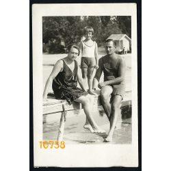 Tardi Mihály fényképész, Újpest, Duna part, fürdőruha, strand, 1920-as évek, Budapest, Eredeti fotó, papírkép.