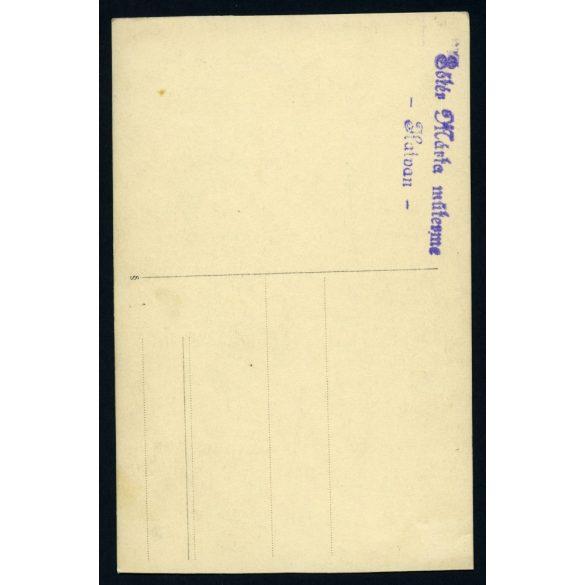 Sőtér Márta műterem, Hatvan, kisfiú hegedűvel, portré, zene, hangszer, gyerek, 1930-as évek, Eredeti fotó, papírkép.