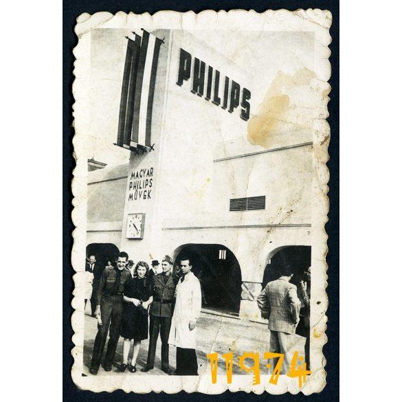 Magyar PHILIPS Művek, Budapest, Váci út, gyár, üzem, város, utcakép 1930-es évek, Eredeti fotó, papírkép