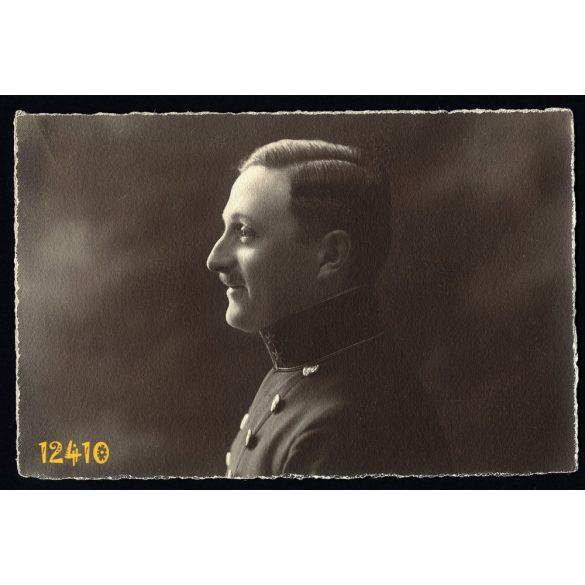 Nagyvárad, K. u. K. katona, tiszt egyenruhában, 1. világháború, 1910-es évek, Magyarország,  Eredeti fotó, papírkép.