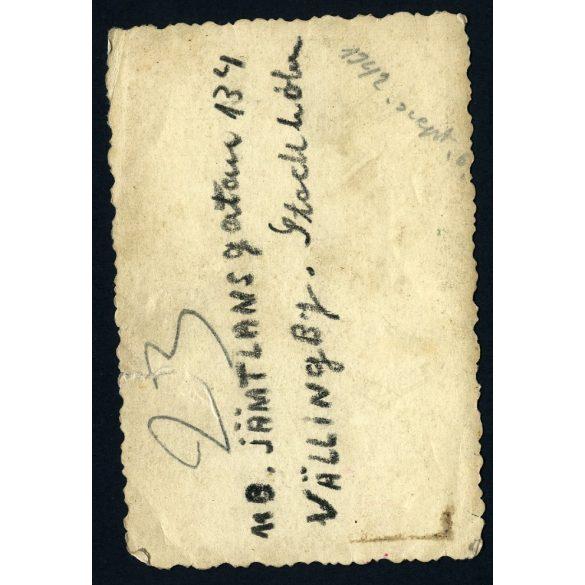 Eredeti fotó, papírkép. barátnők, Budapest  XII. kerület, Németvölgy, Zólyom lépcső, városkép, 1940-es évek,