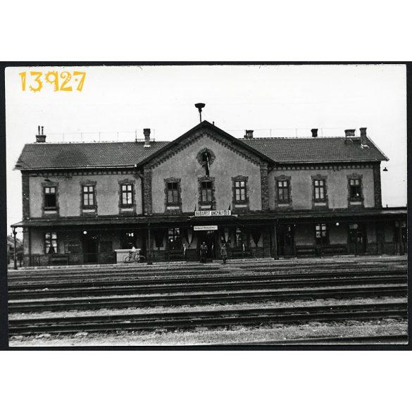 Budapest, Angyalföld, vasút, állomás, közlekedés, város 1960-as évek, Eredeti fotó, papírkép.