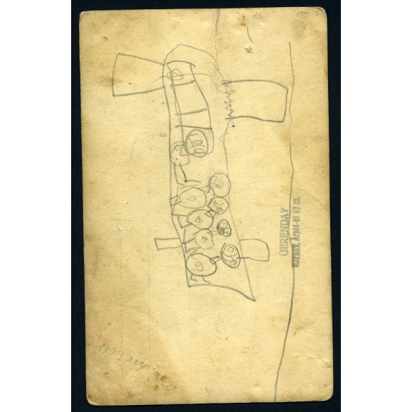 Lányok pipával, cigány jelmez, Újpest, vicces, különös, Gerenday műterem, roma, 1930-as évek, Eredeti fotó, papírkép.