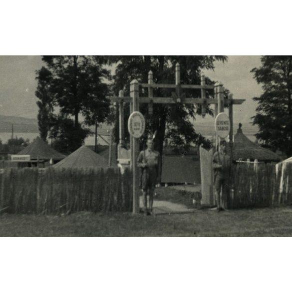 Budapest, XIV. kerületi leventék tábora Balatonszárszón 1936. aug. 9. Eredeti fotó, papírkép.