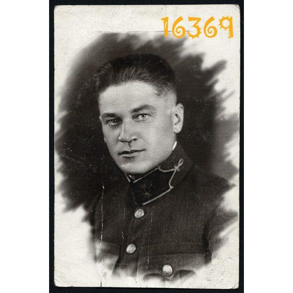 Katona, Tiszti Kaszinó Tagsági Igazolvány, egyenruha, 1929. Eredeti fotó, papírkép.