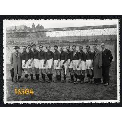 Budapest, Zugló,  Millenáris Sportpálya, BECK SC, sport, foci, futball, 1936. május 03. Eredeti fotó, papírkép.