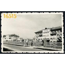 Sopron, utcakép, Lővér Szálló 1930-as évek, város, Horthy korszak, Eredeti fotó, papírkép