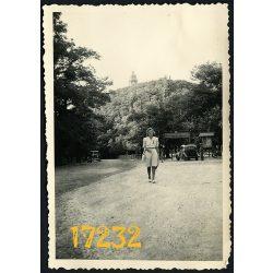 Székesfővárosi vendéglő, Budapest, János-hegy, Kis taxi, jármű, város, Balázs Antal vendéglős, 1942, Eredeti fotó, papírkép.
