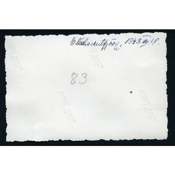 Oláhszentgyörgy, Sângeorz-Băi, Sângeorgiul Român, Erdély, népviselet, gyerekek, 1943, Eredeti fotó, papírkép.