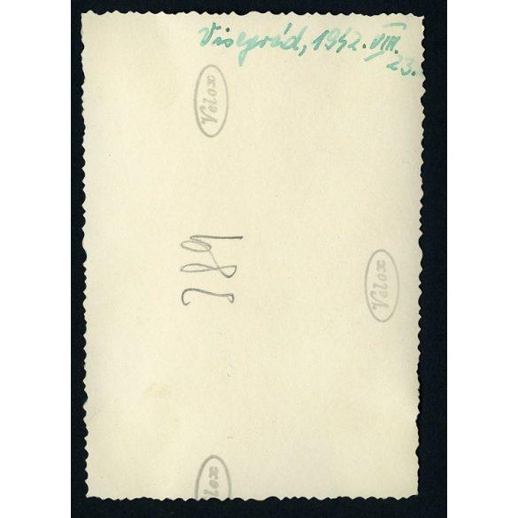 fedélzeten. Visegrád, Duna, hajó, jármű, közlekedés, 1942, Eredeti fotó, papírkép.
