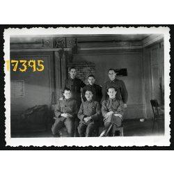 Katona, 2. világháború,  Szovjetunió, tiszti kar név szerint, orosz front, egyenruha, 1942. dec. 25, Eredeti fotó, papírkép.