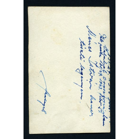 Katona, 2. világháború, Szovjetunió, Ménes István honvéd, orosz front, egyenruha, 1943. febr. 5, Eredeti fotó, papírkép.