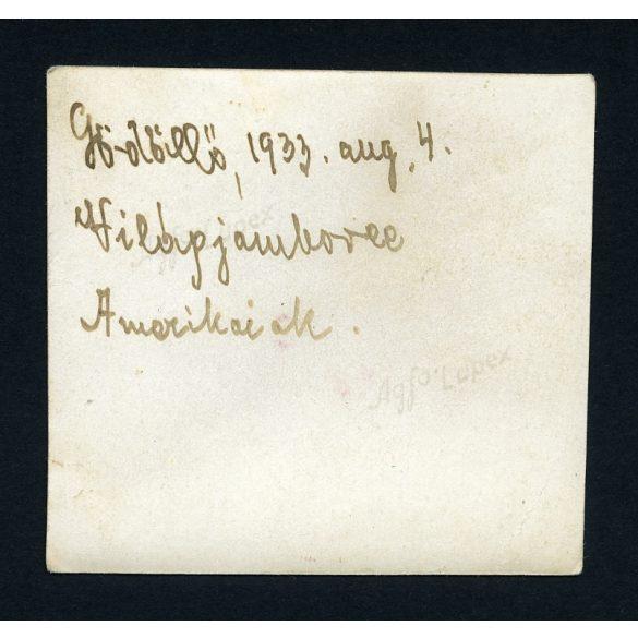 Gödöllő, Cserkész Világdzsembori (Jamboree), amerikaiak indián jelmezben,  1933. augusztus 4., 1930-as évek, Eredeti fotó, papírkép.