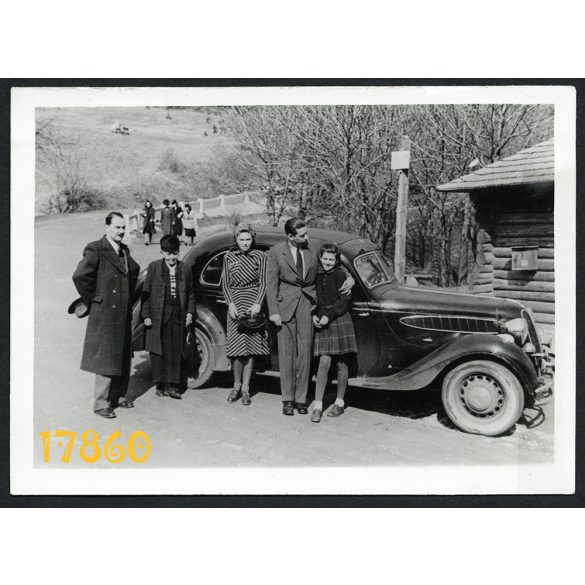 'Fotóamatőr' műterem, kirándulás BMW autóval, jármű közlekedés, személygépkocsi,  1930-as évek, Magyarország,  Eredeti fotó, papírkép.