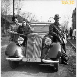 Auto Union DKW személygépkocsi, autó, jármű, közlekedés, Magyarország, 1940-es évek, Eredeti fotó negatív!