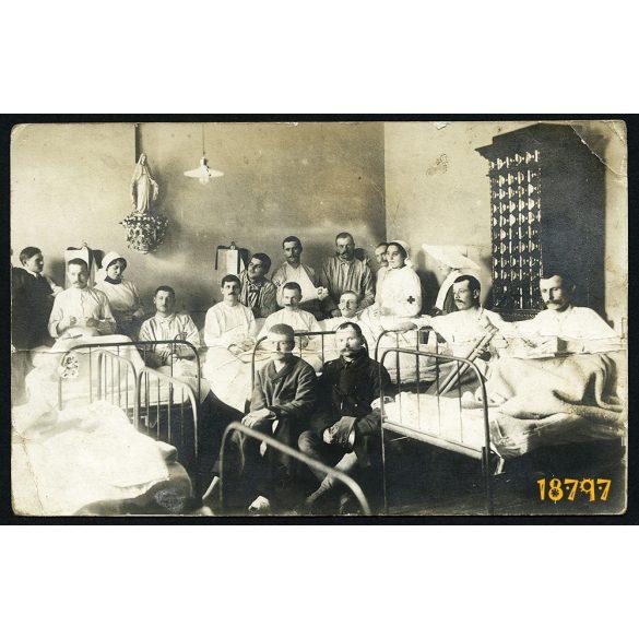 Katonakórház, 1. világháború, nővér, apáca,  1910-es évek, Eredeti fotó, papírkép.
