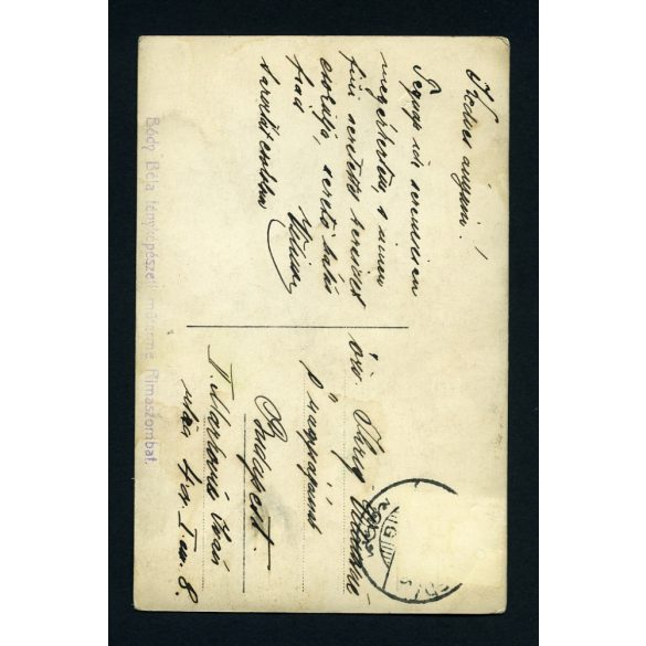 Bódy műterem, Rimaszombat, Felvidék, elegáns férfi kalapban, pipával, bajusszal,  1910-es évek, Eredeti fotó, papírkép.