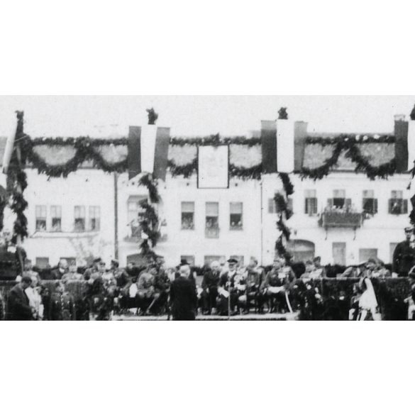 Szászrégen, Erdély, bevonulás, Horthy beszédet mond, 1940. IX. 16., 1940-es évek, Eredeti fotó, papírkép.