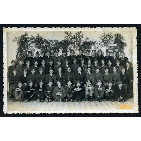 Horváth-fotó, Eger, KALOT, Katolikus Legényegylet, egyenruha, egyház, 1920-as évek, Eredeti fotó, papírkép.
