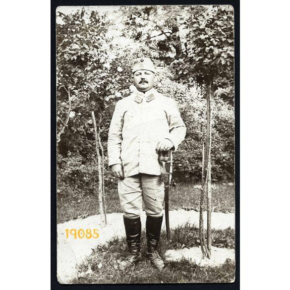 K. u. K. katona, 1. világháború, Olkusz, Kopácsy Ipoly hadnagy, kard egyenruha, 1915, 1910-es évek, Eredeti fotó, papírkép.