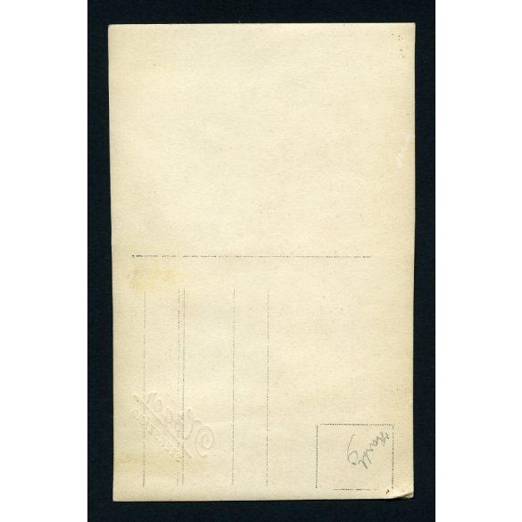 Nőger műterem, Szekszárd, lány hegedűvel, hangszer, zene, ünneplő ruha, masni, 1920-as évek, Eredeti fotó, papírkép.