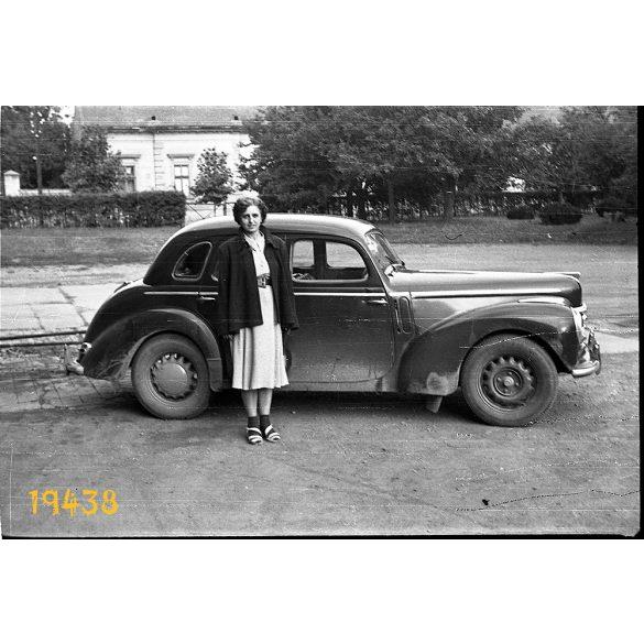 Skoda Tudor személygépkocsi, autó, jármű, közlekedés, 1950-es évek, Eredeti fotó negatív.