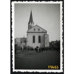 Kassa, Felvidék, Domonkos templom, utcakép, városkép, 1940-es évek, Eredeti fotó, papírkép.