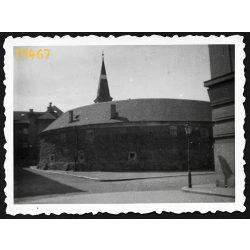 Kassa, Felvidék, Hóhérbástya, Fazekas utca 13, utcakép, városkép, 1940-es évek, Eredeti fotó, papírkép.