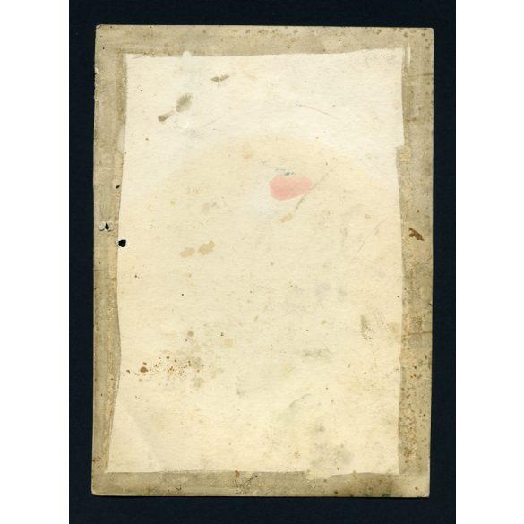 Nagyobb méretű, kézzel színezett fotó, pár nemzeti viseletben, kulaccsal, pipa, bajusz,  1920-as évek, Eredeti fotó, papírkép.