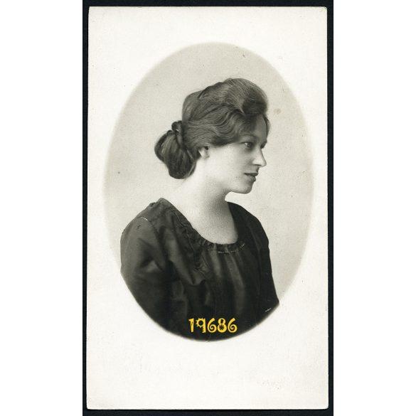 Kemény műterem, Lőcse (Levoca), Felvidék, elegáns hölgy portréja, 1920-as évek, Eredeti fotó, papírkép.