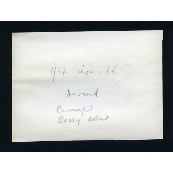 Nicolae Caramfil és Raoul Bossy román diplomata útban a Herendi Porcelángyár felé, történelem, politika, 1937, 1930-as évek, Eredeti fotó, papírkép.