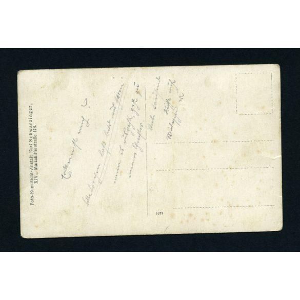 K.u.K. katonák puskákkal, egyenruha, I. világháború, Bécs 1910-es évek, Eredeti fotó, papírkép.