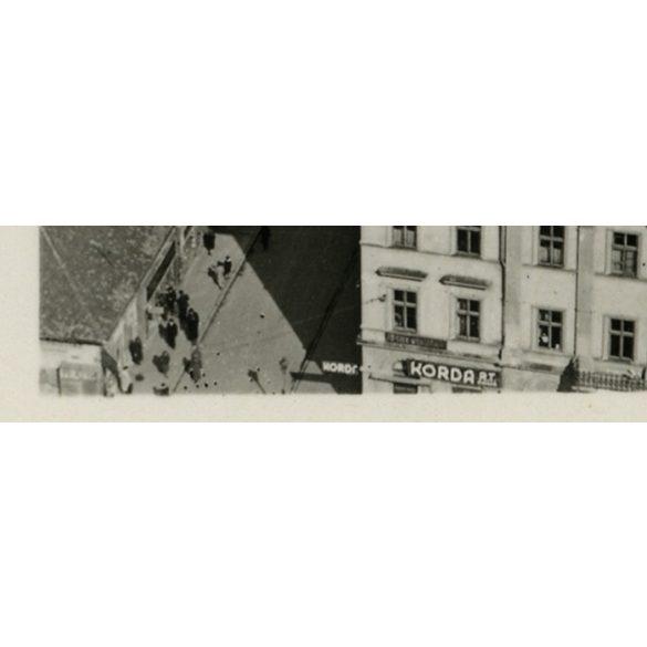 Szeged, városkép a Dóm tornyából, Korda Rt, közlekedés, 1943, 1940-es évek, Eredeti fotó, papírkép.
