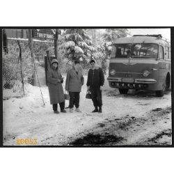 Ikarus 55 távolsági busz, jármű, közlekedés, 1960-as évek, Eredeti fotó, papírkép.