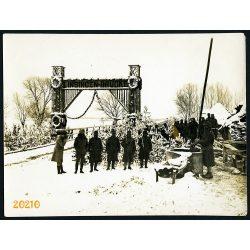 Linsingen-Brücke, Ukrajna, 1. világháború, Magyar katonák Kowel környékén, 1910-es évek, Eredeti fotó, papírkép.