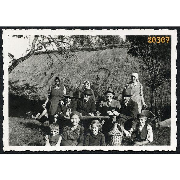 Bezeréd, szüret, mezőgazdaság, bor, kancsó, demizson, 1938, 1930-as évek, Eredeti fotó, papírkép.