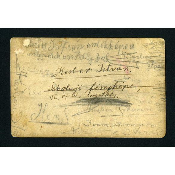 Sashalom, Ehmann-telepi elemi iskola, osztály, tanár, Budapest, 1920-as évek, Eredeti fotó, papírkép.