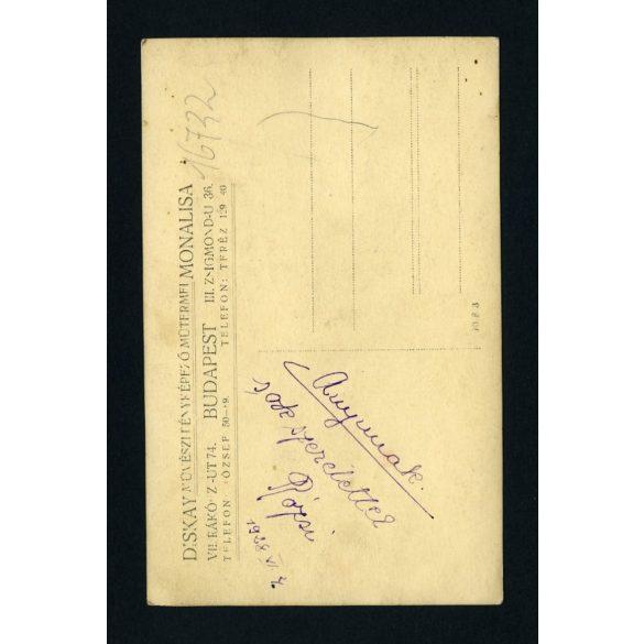 Diskay, Monalisa műterem,  elegáns hölgy gyöngysorral, karórával, Budapest, portré, 1928, 1920-as évek, Eredeti fotó, papírkép.