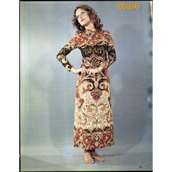 Pataki Ági modell egzotikus ruhában, divat, 1970-es évek, Eredeti fotó negatív!