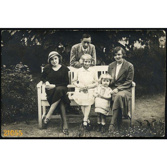 Csurgó, a Kunszt család, 1933, 1930-as évek, Eredeti fotó, papírkép.