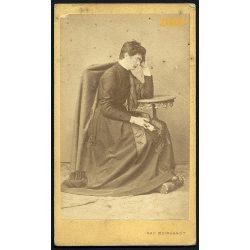 Meinhardt műterem, Nagyszeben, Erdély, pap, egyházfi, vallás, 1860-as évek, Eredeti CDV, vizitkártya fotó.