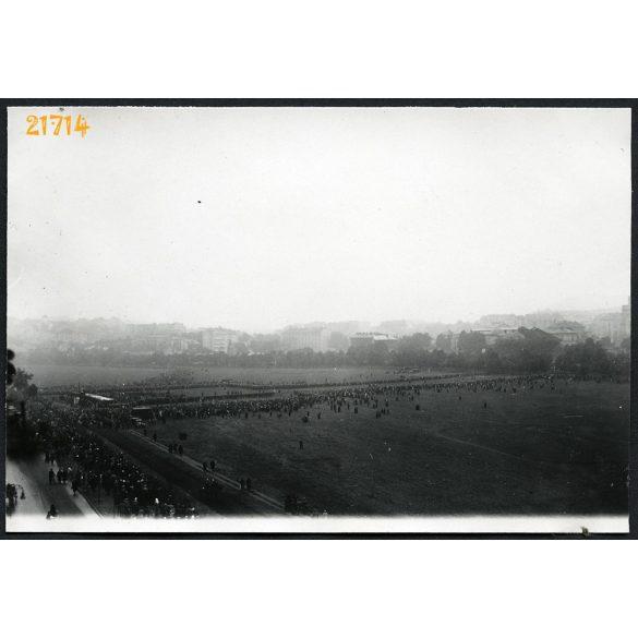 Vérmező, biatorbágyi vasúti merénylet áldozatainak gyásszertartása, Budapest, 1931, 1930-as évek, Eredeti fotó, papírkép.