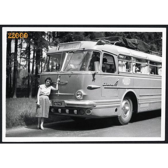 Ikarus 55 korai szériás távolsági busz, jármű, közlekedés, 1960, 1960-as évek, Eredeti fotó, papírkép.