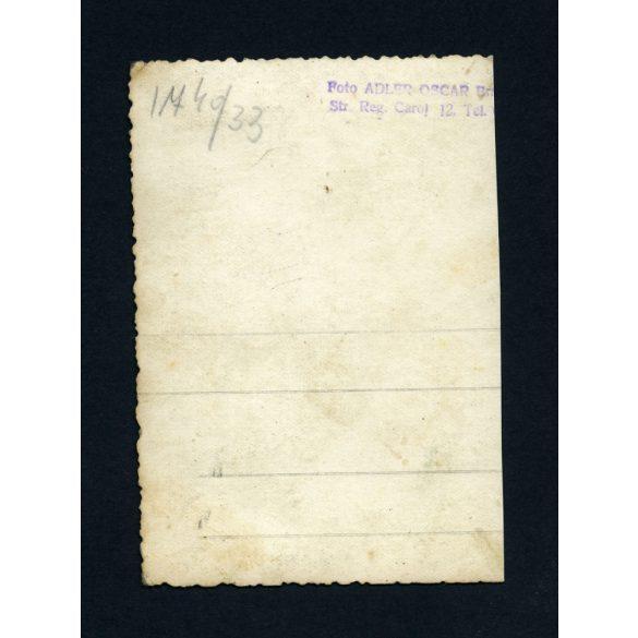Adler Oscar műterme, Brassó, Erdély, anya fiával, árnyék, 1930-as évek, Eredeti fotó, papírkép.