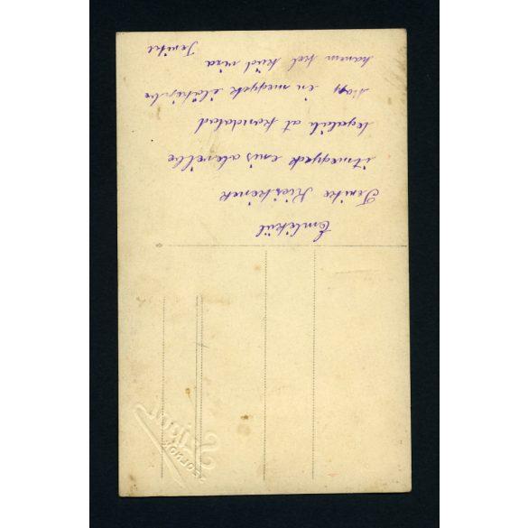 Szipál műterem, Szolnok, elegáns hölgy portréja, gyöngysorral, 1920-as évek, Eredeti fotó, papírkép.