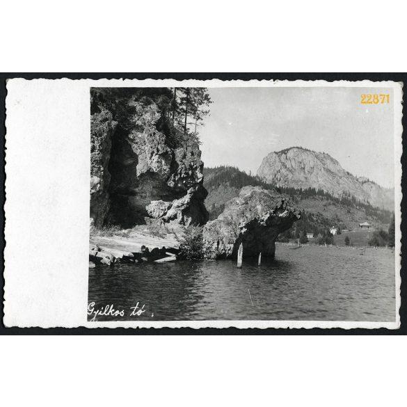 Gyilkos-tó, Erdély, tájkép, 1920-as évek, Eredeti fotó, papírkép.