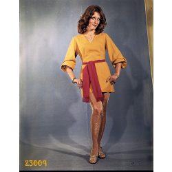 Divat, Pataki Ági modell mini ruhában, különös harisnyában, 1970-es évek, Eredeti fotó negatív!