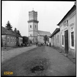 Olaszliszka, Klein Bernát kocsmája, Wanderer W2 gépkocsi, autó, jármű, közlekedés, 1940-es évek, Eredeti fotó negatív!