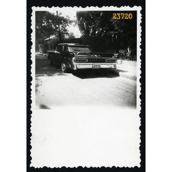 Pontiac, állami rendszámú luxuslimuzin, politika, különös, jármű, közlekedés, 1960-as évek, Eredeti fotó, papírkép.